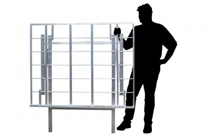 Bulltafels, verkooptafels aluminiumtafel markttafel klaptafel verkooprek schuin hoog 3