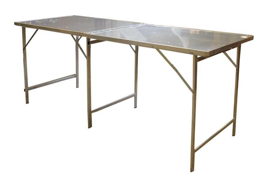 Hoektafel koffer tafel, verkooptafel aluminiumtafel markttafel klaptafel