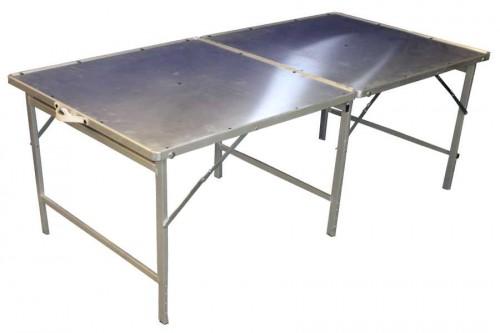 Aluminium Markttafel Koffer 200x100cm