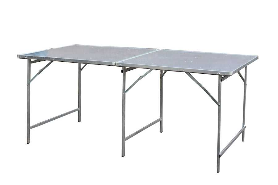 Hoektafel koffertafel, verkooptafel aluminiumtafel markttafel klaptafel 19