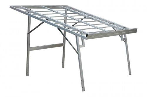 verkooptafel aluminiumtafel markttafel fruitrek klaptafel schuin