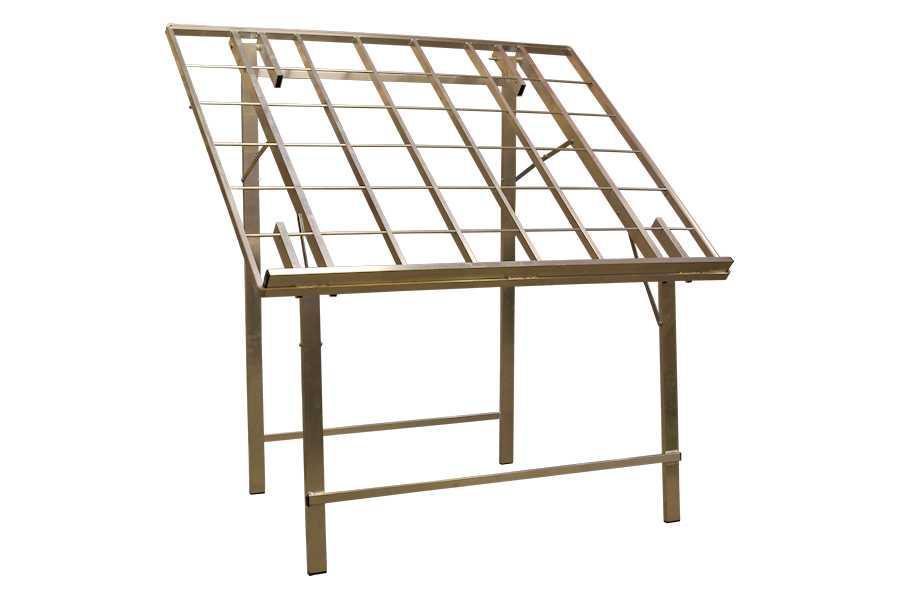 verkooptafel aluminiumtafel markttafel klaptafel schuin hoog mitch