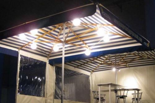 8 bols verlichting, streng verlichtingLosse bol, Ophang beugel, Markt verlichting, parasol verlichting,, Diverse markt benodigheden, 1