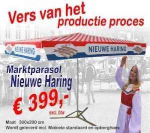 Haring marktparasol vis