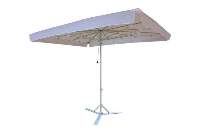 Verena parasol, aluminium parasol, marktparasol, kleine parasol, lichte parasol, handige parasol Grijs