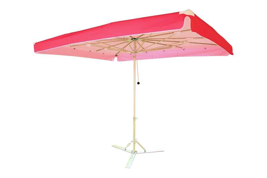 Verena parasol, aluminium parasol, marktparasol, kleine parasol, lichte parasol, handige parasol Roze