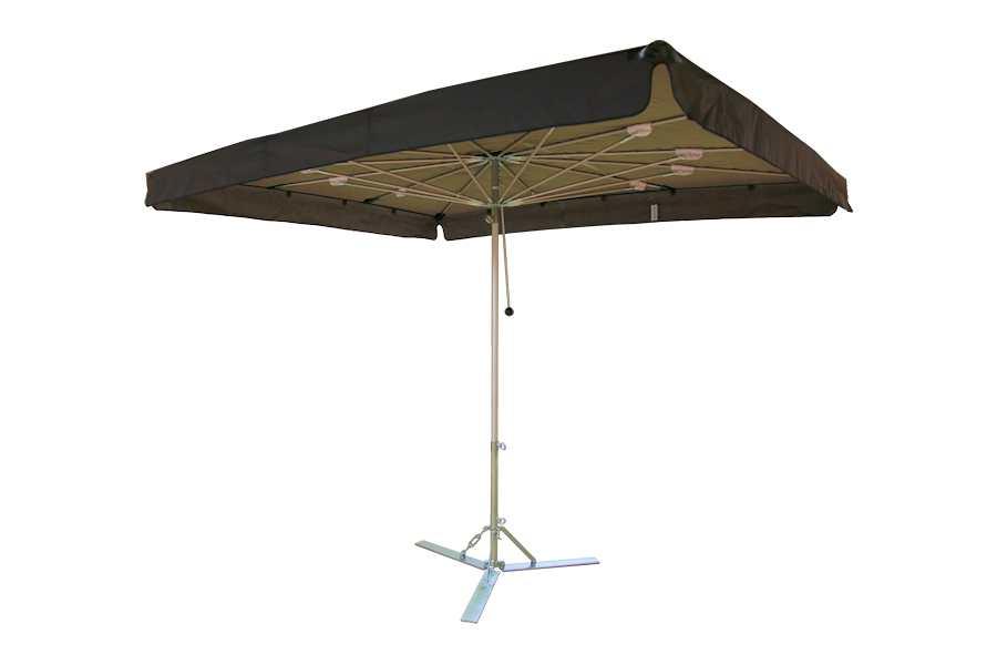 Verena parasol, aluminium parasol, marktparasol, kleine parasol, lichte parasol, handige parasol Zwart