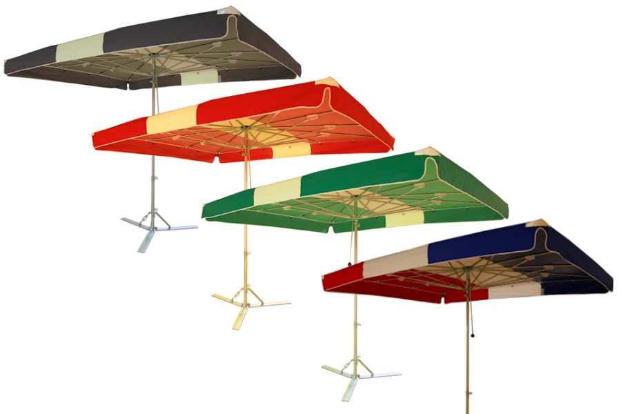 Verena parasol, aluminium parasol, marktparasol, kleine parasol, lichte parasol, handige parasol lichtebaan