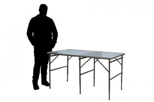 Hoektafel koffertafel, verkooptafel aluminiumtafel markttafel klaptafel 21
