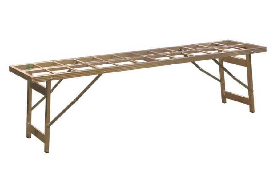 Hoektafel verkooptafel aluminiumtafel markttafel klaptafel open blad