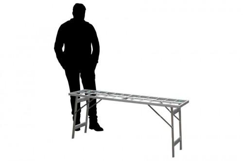 Hoektafel verkooptafel aluminiumtafel markttafel klaptafel open
