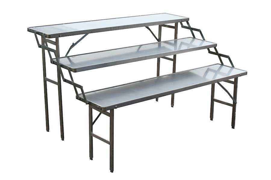 Trap tafel Hoektafel koffer tafel, verkooptafel aluminiumtafel markttafel klaptafel