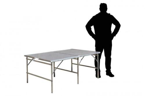 Hoektafel koffertafel, verkooptafel aluminiumtafel markttafel klaptafel