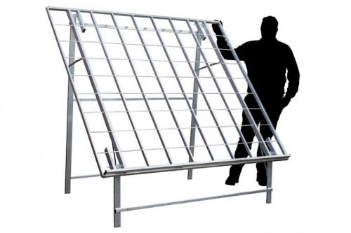 Mitch tafel, verkooptafels aluminiumtafel markttafel klaptafel verkooprek achterrek schuin hoog