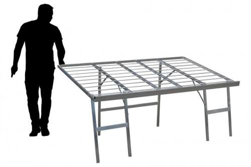 Bulltafels, verkooptafels aluminiumtafel markttafel klaptafel verkooprek schuin hoog