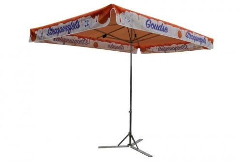 Meepakker parasols, budget parasol, kleine parasol marktparasol Stroopwafel