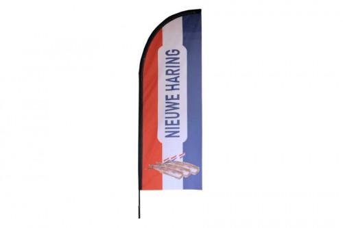 Beachvlag haring voor de markt